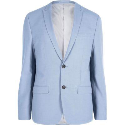 Blauw skinny fit colbert