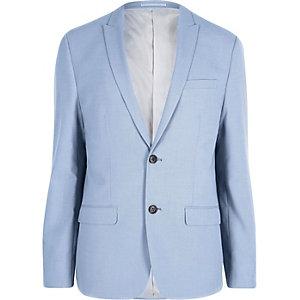 Skinny Fit Anzugsjacke in Kornblumenblau