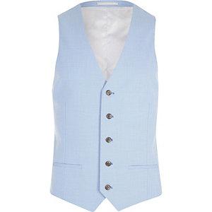Cornflower blue suit waistcoat