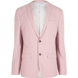 Veste de costume rose coupe skinny