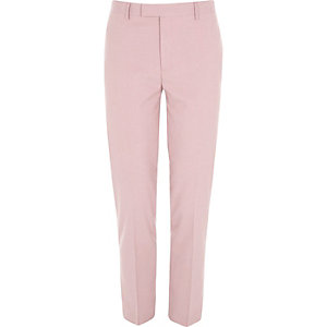 Rosa Skinny Fit Anzughose