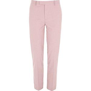 Roze skinny-fit cropped pantalon