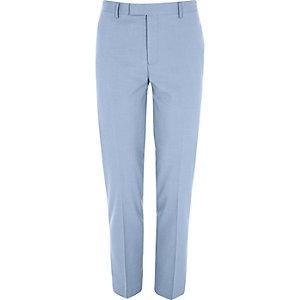 Korenbloemblauwe skinny cropped pantalon