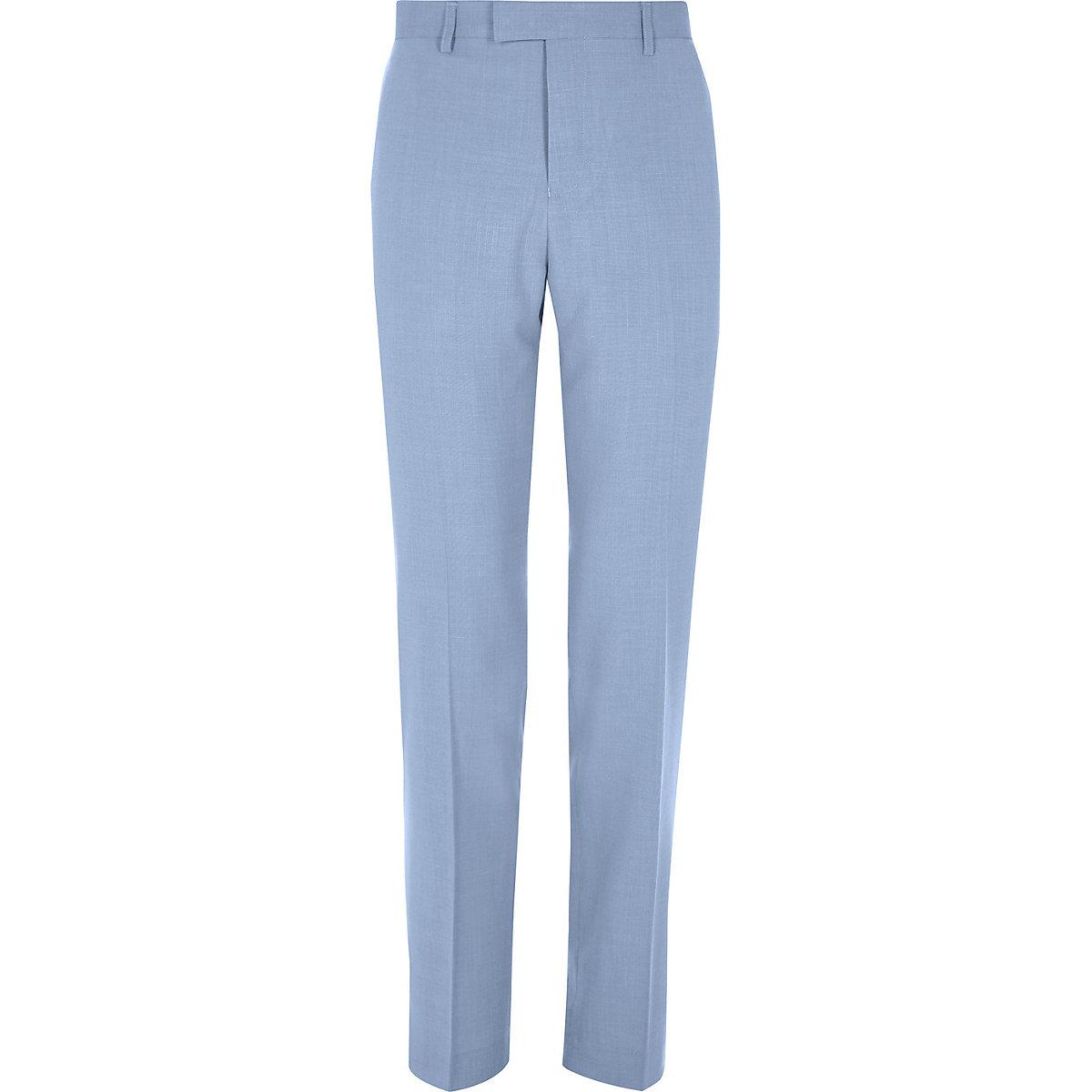 Pantalon de costume bleu coupe slim