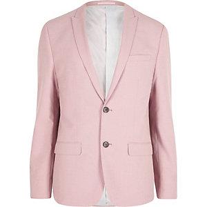 Roze slim-fit colbert
