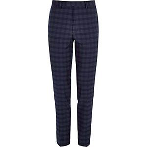Pantalon de costume skinny à carreaux