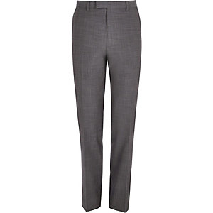 Pantalon de costume gris coupe slim