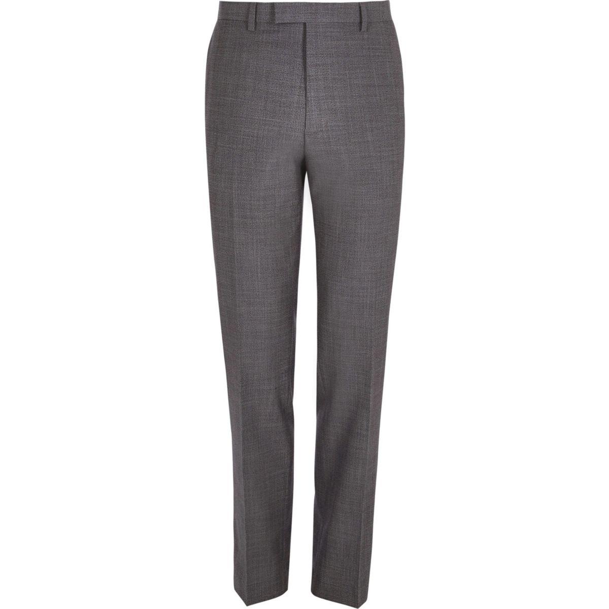 Grey slim fit suit pants