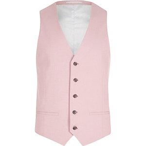 Gilet de costume rose