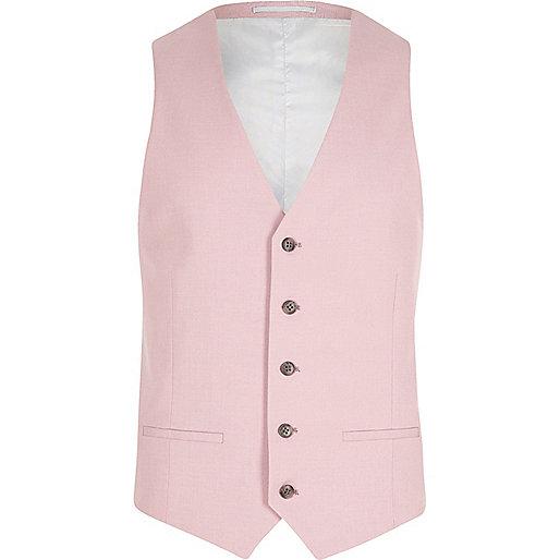 Pink suit vest