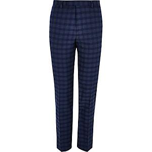 Pantalon de costume slim à carreaux