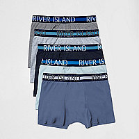 Blue hipster boxers multipack