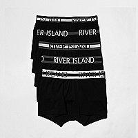 Black RI branded hipster boxers multipack