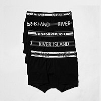 Black and white branded boxers multipack
