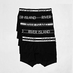 Schwarze Hipster-Slips im Set mit RI-Logo