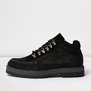 Black Design Form suede boots