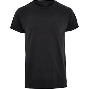 Graues T-Shirt mit Rundhalsausschnitt