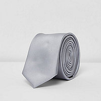 Grey metallic tone tie