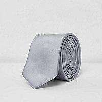 Krawatte in Grau-Metallic