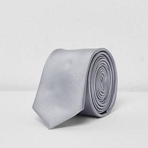 Cravate gris métallisé