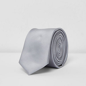 Grey metallic tone tie