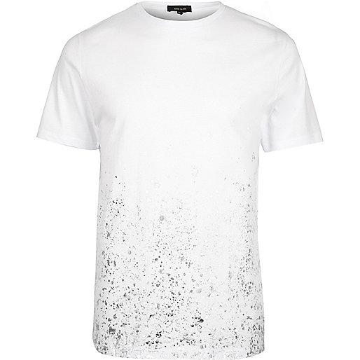 White splatter print T-shirt