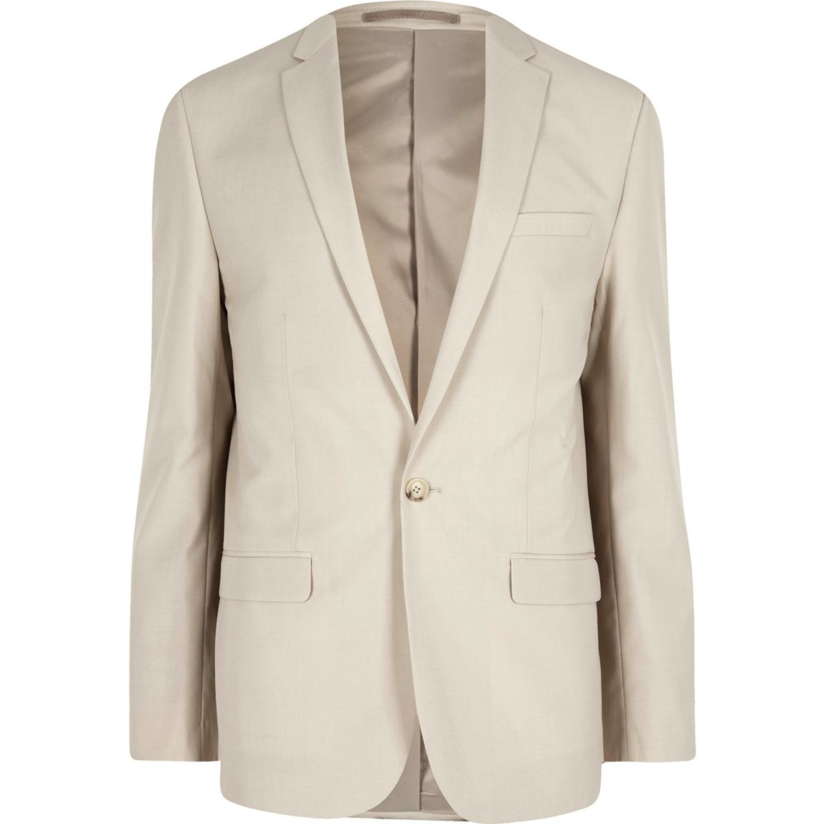 Cream slim fit suit jacket - Suits - Sale - men