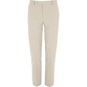 Crème slim-fit pantalon