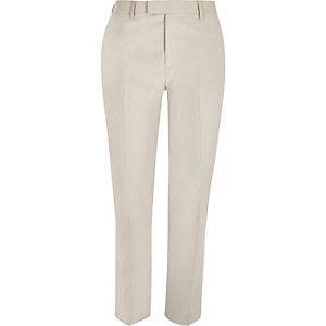 Pantalon de costume skinny crème