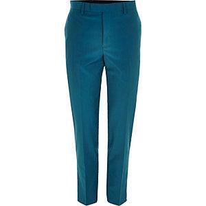 Pantalon de costume skinny bleu canard