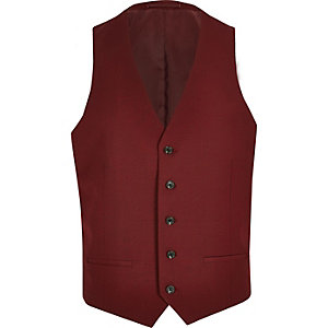 Rote Anzugsweste
