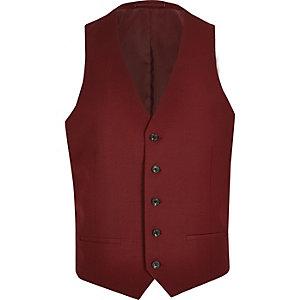 Gilet de costume rouge