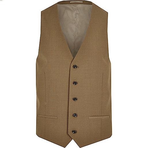 Brown suit waistcoat