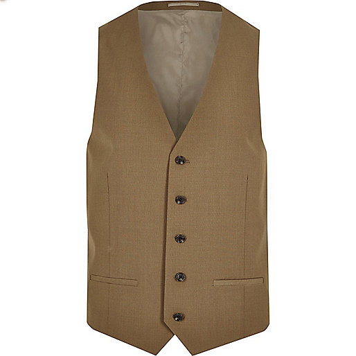 Brown suit vest
