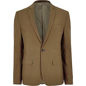 Braune Slim Fit Anzugsjacke