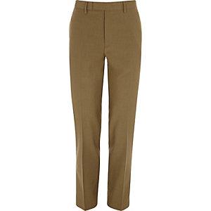 Bruine slim-fit pantalon