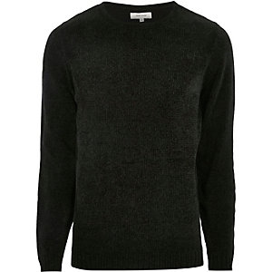 Dark green soft jumper