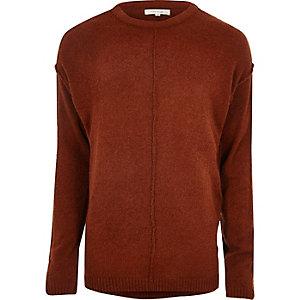 Rust red stitch jumper