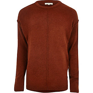 Rust red stitch sweater