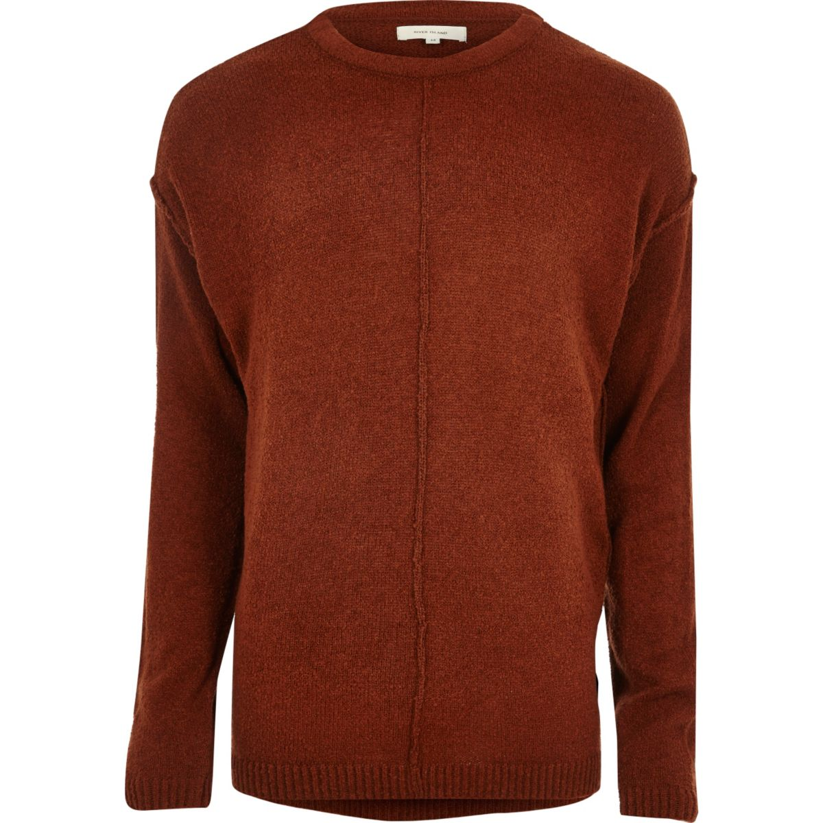 Rust red stitch sweater