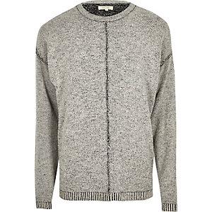 Dark grey stitch sweater