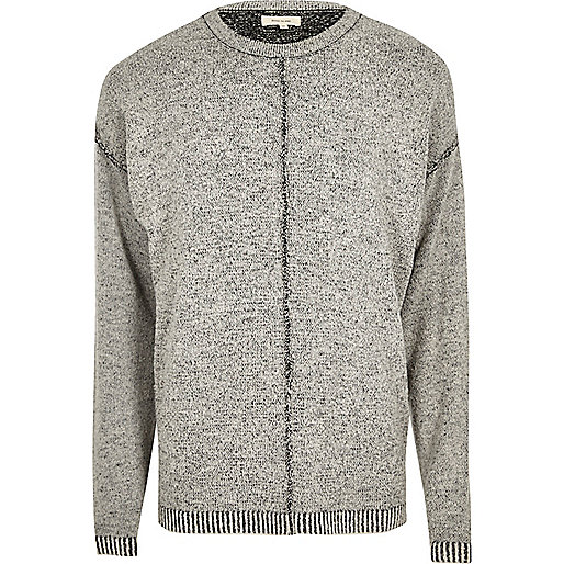 Dark grey stitch jumper