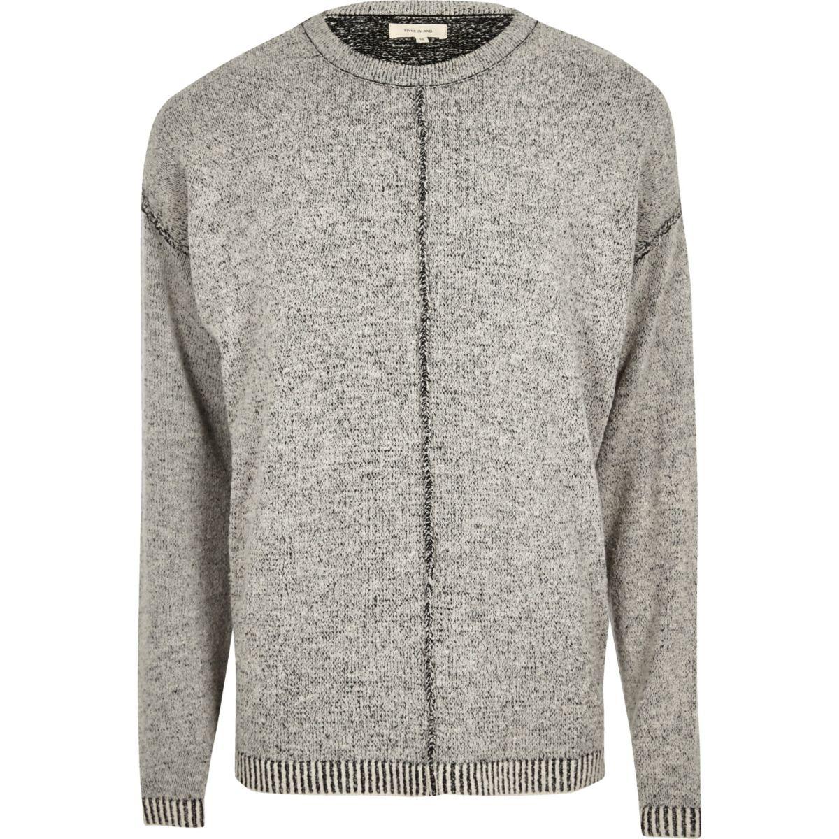 Dark grey stitch jumper