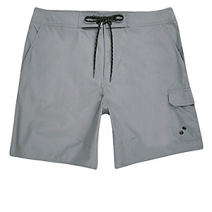 Grey pocket board shorts