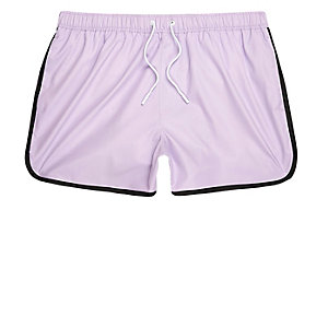 Light purple short swim shorts