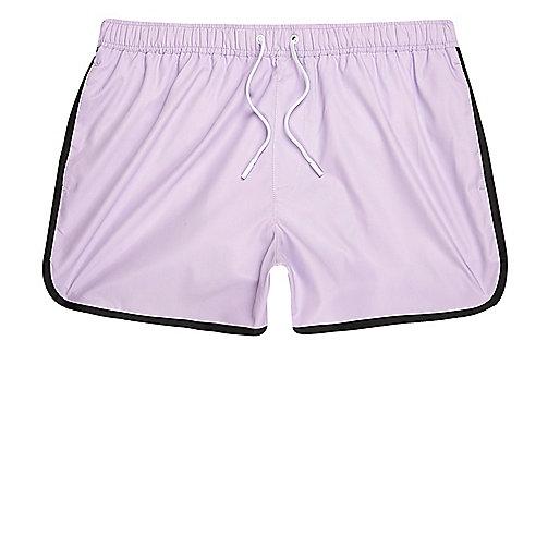 Light purple short swim shorts
