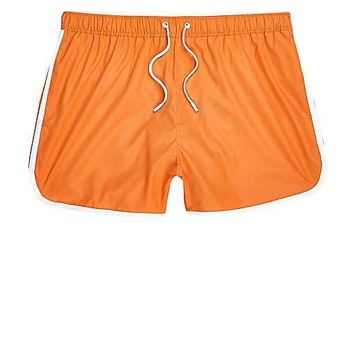 Orange short swim trunks