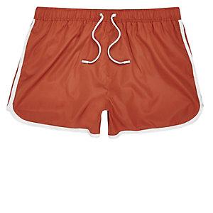 Dark orange short swim shorts