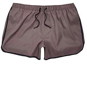 Dark purple short swim trunks