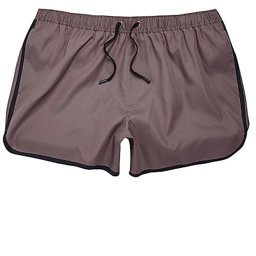 Dark purple short swim shorts